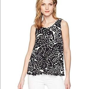 THREE DOTS TROPICAL PRINT TOP Blouse Loose Fit
